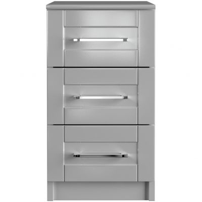 One-Call Colby Gloss 3 Drawer Bedside Chest
