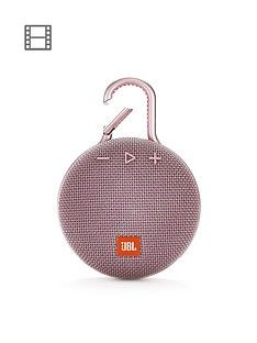 JBL JBL Clip3 Wireless Bluetooth Ultra Portable and Rugged Speaker with Integrated Clip and Up To 10 hours Playtime - Dusty Pink Best Price, Cheapest Prices