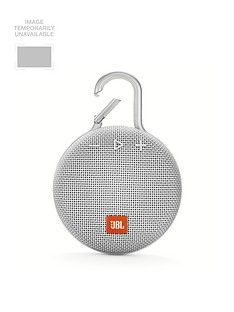 JBL JBL Clip3 Wireless Bluetooth Ultra Portable and Rugged Speaker with Integrated Carabiner Clip and Up To 10 hours Playtime - White Best Price, Cheapest Prices