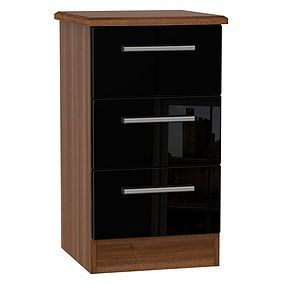 Knightsbridge 3 Drawer Bedside Cabinet Best Price, Cheapest Prices