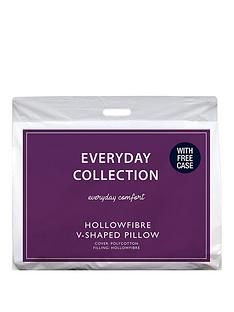 Everyday Collection V-Shaped Hollowfibre Support Pillow with FREE Case Best Price, Cheapest Prices