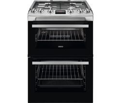 ZANUSSI ZCG63260XE 60 cm Gas Cooker - Stainless Steel Best Price, Cheapest Prices
