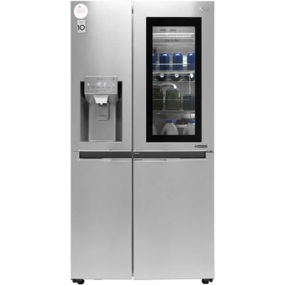 LG InstaView™ Door-in-Door™ GSX960NSAZ Wifi Connected American Fridge Freezer - Stainless Steel - A++ Rated Best Price, Cheapest Prices