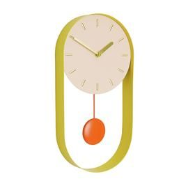 Habitat Metro Metal Pendulum Wall Clock - Pink Best Price, Cheapest Prices