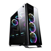 Sahara P35 RGB Chassis, Tempered Glass, USB 3.0, 4x120mm Fan Included, Radiator Support, ATX/MicroATX/Mini ITX Best Price, Cheapest Prices