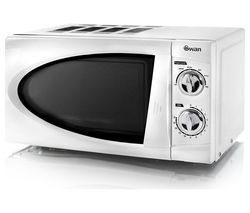SWAN SM3090N Compact Solo Microwave - White Best Price, Cheapest Prices