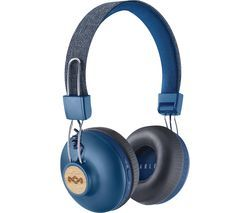 HOUSE OF MARLEY Positive Vibration 2 Wireless Bluetooth Headphones - Blue Best Price, Cheapest Prices