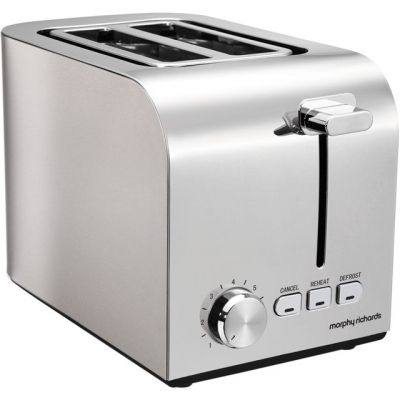 Morphy Richards Equip 222055 2 Slice Toaster - Brushed Stainless Steel Best Price, Cheapest Prices