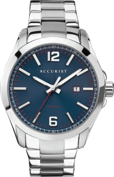Accurist Men's Silver Stainless Steel Bracelet Watch Best Price, Cheapest Prices