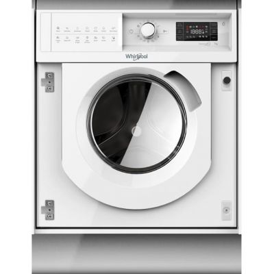 Whirlpool FreshCare+ BIWMWG71253UK Integrated 7Kg Washing Machine with 1200 rpm - A+++ Rated Best Price, Cheapest Prices