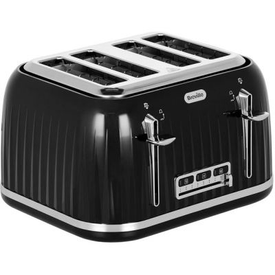 Breville Impressions VTT476 4 Slice Toaster - Black Best Price, Cheapest Prices