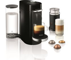 NESPRESSO by Magimix Vertuo Plus Coffee Machine with Aeroccino - Piano Black Best Price, Cheapest Prices