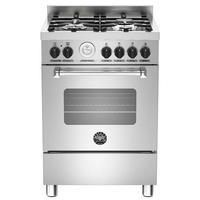 Bertazzoni MAS60-4-MFE-S-XE Master Series 60cm Single Oven Dual Fuel Cooker -Stainless Steel Best Price, Cheapest Prices