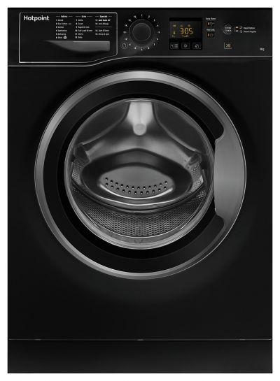 Hotpoint NSWM843CBS 8KG 1400 Spin Washing Machine - Black Best Price, Cheapest Prices
