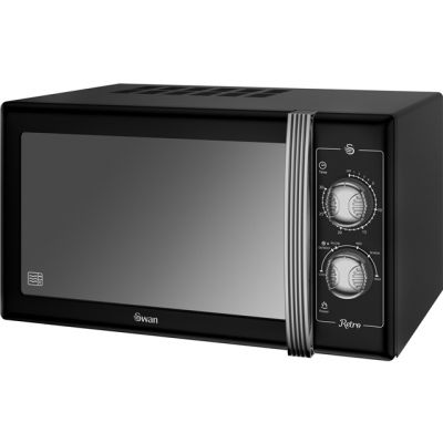 Swan Retro SM22070BN 25 Litre Microwave - Black Best Price, Cheapest Prices