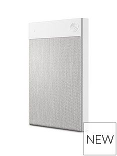 Seagate Seagate 1TB Backup Plus Ultra Touch Portable Hard Drive - White Best Price, Cheapest Prices