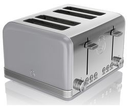 SWAN Retro ST19020GRN 4-Slice Toaster - Grey Best Price, Cheapest Prices