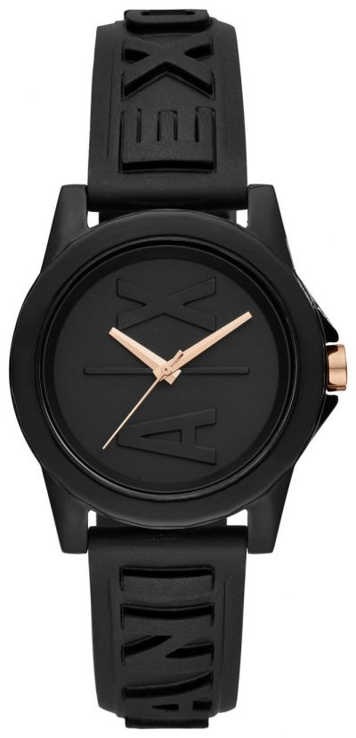 Armani Exchange Ladies Black Silicone Strap Watch Best Price, Cheapest Prices