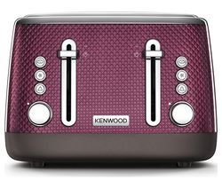 KENWOOD Mesmerine TFM810PU 4-Slice Toaster - Rich Plum Best Price, Cheapest Prices