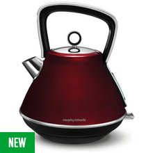 Morphy Richards 100108 Evoke Pyramid Kettle - Red Best Price, Cheapest Prices