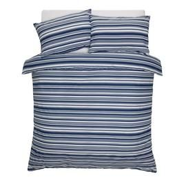 Argos Home Stripe Print Bedding Set - Double Best Price, Cheapest Prices
