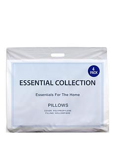 Essentials Collection Pack of 4 Pillows Best Price, Cheapest Prices