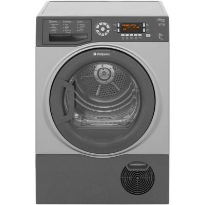 Hotpoint Ultima S-Line SUTCD97B6GM 9Kg Condenser Tumble Dryer - Graphite - B Rated Best Price, Cheapest Prices