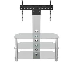AVF SDCL900CC 900 mm TV Stand with Bracket - Clear & Chrome Best Price, Cheapest Prices