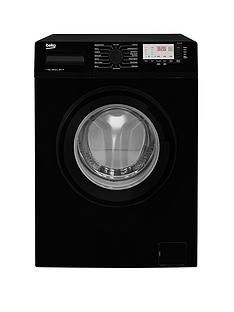 Beko WTG741M1B 7kg Load, 1400 Spin Washing Machine - Black Best Price, Cheapest Prices