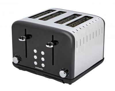 Cookworks Pyramid 4 Slice Toaster - Black Best Price, Cheapest Prices