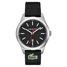 Lacoste Auckland Men's Black Fabric Strap Watch Best Price, Cheapest Prices