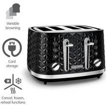 Morphy Richards 248131 Vector 4 Slice Toaster - Black Best Price, Cheapest Prices