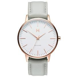 MVMT Ladies Boulevard Grey Leather Strap Watch Best Price, Cheapest Prices