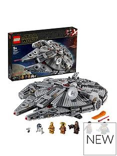 Lego Star Wars 75257 Millennium Falcon Starship With 7 Characters Best Price, Cheapest Prices
