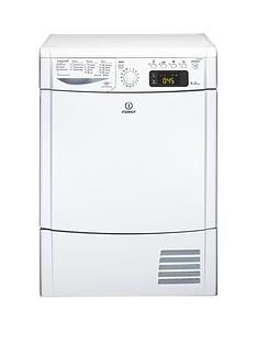 Indesit Ecotime IDCE8450BH 8kg Load Sensor Condenser Tumble Dryer - White Best Price, Cheapest Prices