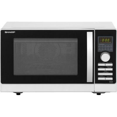 Sharp R843SLM 25 Litre Combination Microwave Oven - Silver Best Price, Cheapest Prices