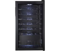 LOGIK LWC34B18 Wine Cooler - Black Best Price, Cheapest Prices