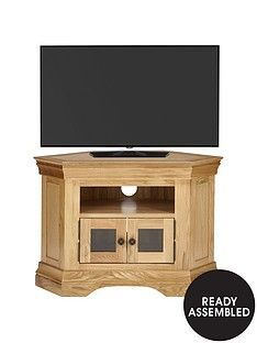 Luxe Collection Constance Oak Ready Assembled Corner TV Unit - fits up to 50 inch TV Best Price, Cheapest Prices
