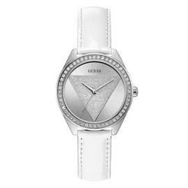 Guess Ladies White Leather Strap Watch Best Price, Cheapest Prices