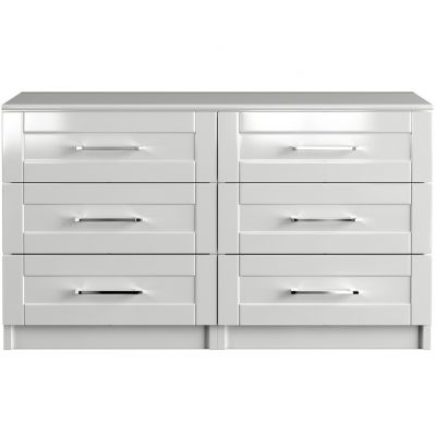 One-Call Colby Gloss 3+3 Drawer Chest of Drawers