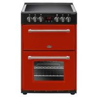 Belling Farmhouse 60E 60cm Double Oven Electric Mini Range Cooker With Ceramic Hob - Hot Jalapeno Best Price, Cheapest Prices