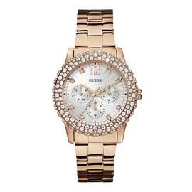 Guess Ladies Multi Dial Rose Gold Coloured Bracelet Watch Best Price, Cheapest Prices