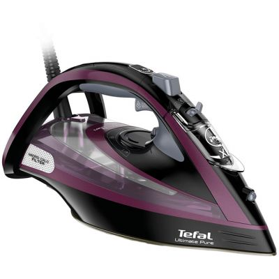 Tefal Ultimate Pure FV9830 3000 Watt Iron -Black / Purple Best Price, Cheapest Prices