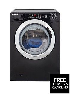 Candy Grand'O VitaGVS1410DC3B10kgLoad, 1400 Spin Washing Machine with Smart Touch - Black/Chrome Best Price, Cheapest Prices