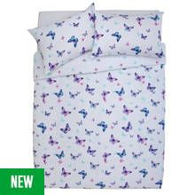 Argos Home Butterfly Bedding Set - Kingsize Best Price, Cheapest Prices