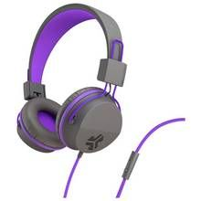JLab JBuddies Kids Headphones - Grey/ Purple Best Price, Cheapest Prices