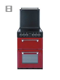 Stoves Richmond 550E 55cm Wide Double Oven Electric Mini Range Cooker with Optional Connection - Jalepeno Best Price, Cheapest Prices