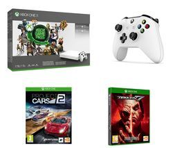 MICROSOFT Xbox One X, Project Cars 2, Tekken 7, Wireless Controller, 3 Month Game Pass & 3 Month LIVE Gold Bundle Best Price, Cheapest Prices