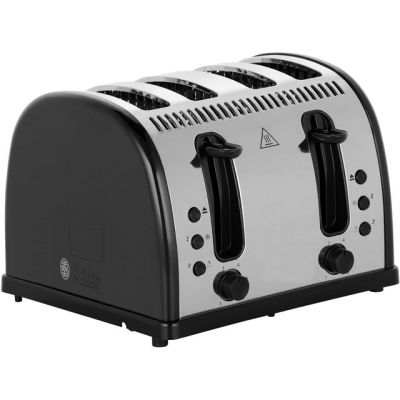 Russell Hobbs Legacy 4 Slice Polished 21303 4 Slice Toaster - Black Best Price, Cheapest Prices