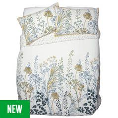 Argos Home Floral Crop Printed Bedding Set - Kingsize Best Price, Cheapest Prices